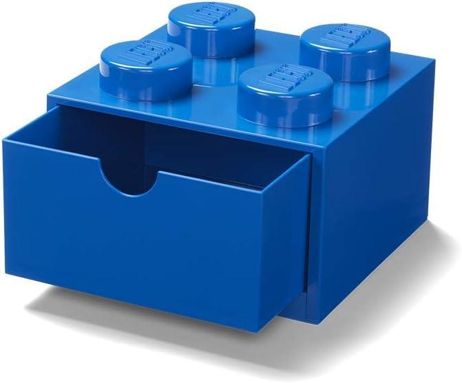 LEGO Caja de Almacenamiento en azul de 4 espigas para escritorio ...