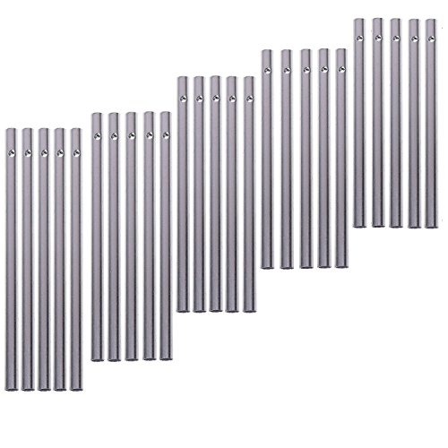 Chris.W Pack of 30 Wind Chime Tubes for Home Garden Outdoor Hanging Decorations, 5 Different Length, Silver Tone Color Empty Tubes