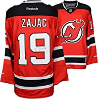 Travis Zajac New Jersey Devils Autographed Red Reebok Premier Jersey - Fanatics Authentic Certified - Autographed NHL Jerseys