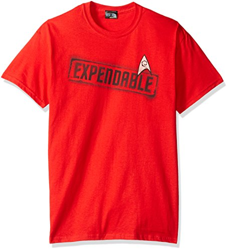 Trevco Men's Star Trek Short Sleeve T-Shirt, Expendable Red, Medium]()
