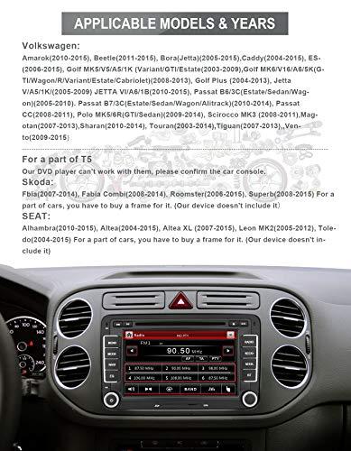 Aumume 7 Inch Car Stereo Head Unit for Golf VW Skoda Seat