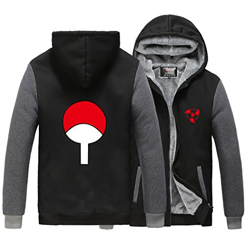 HOLRAN Anime Naruto Uchiha Sharingan Thicken Jacket Cosplay Hoodie
