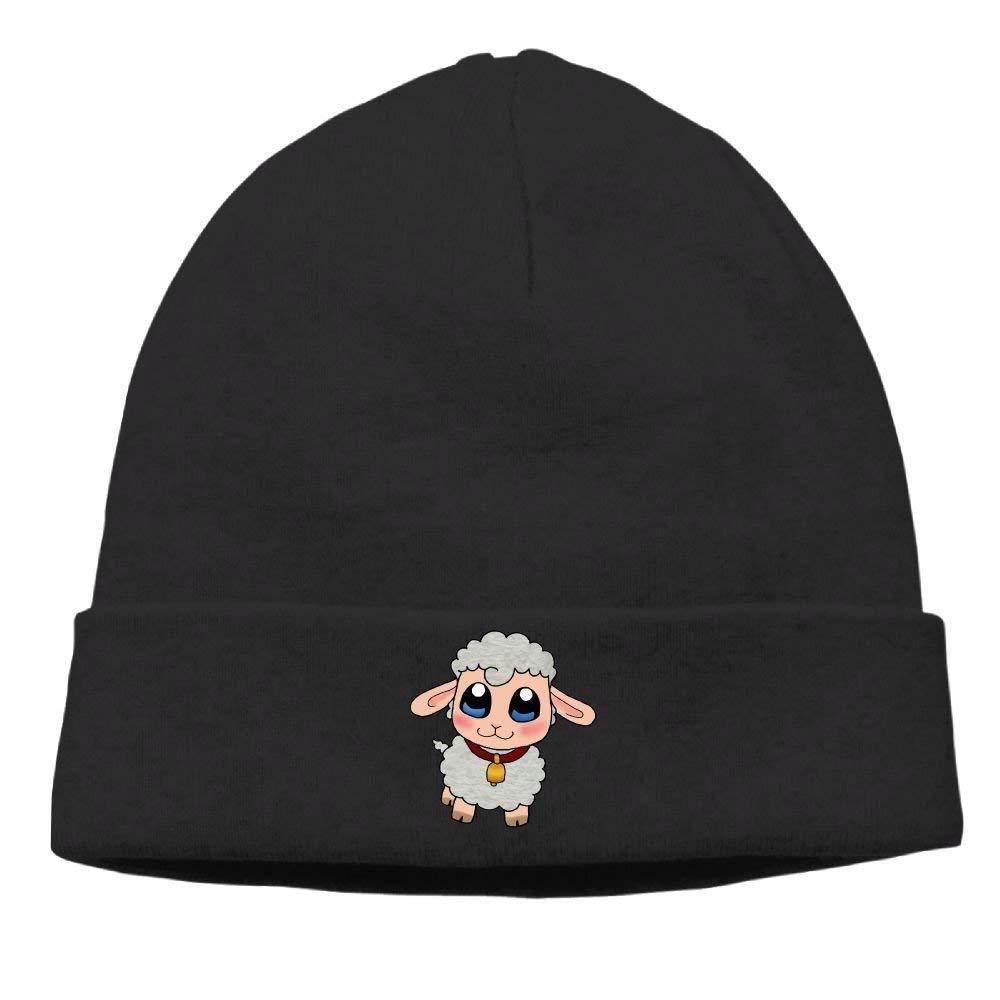 Ustcyla Mens Cute Sheep Elastic Street Dance Black Beanies Tough Headwear