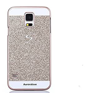 Luxury Samsung Galaxy S5 Case-Aurora® Gold Super Slim Bling Diamond PC Hard Case with Rhinestone Cover for Samsung S5 I9600