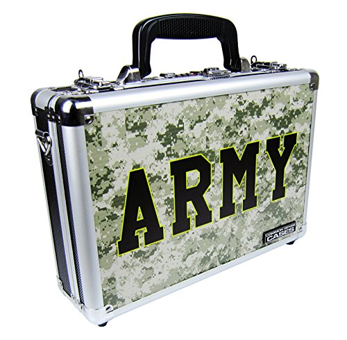 Common Sense Cases Premium Army Design Single/Double Pistol Case, Multi -