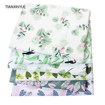 Amazon Com Let S Dream Banana Leaf Fabric Printed Cotton Fabric For