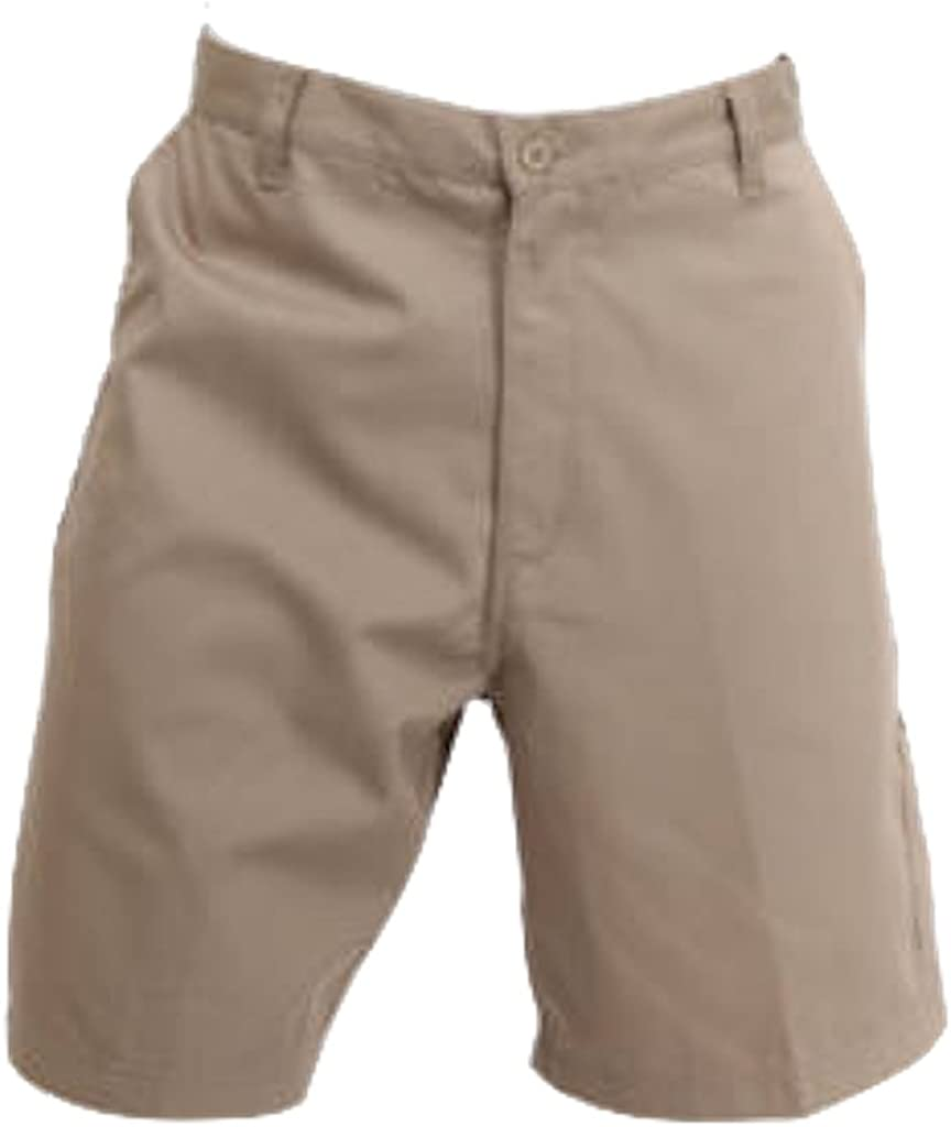 W S by Blue Collar Outlet Men's Carpenter Regular Shorts, 9 inch Inseam, 65% Poly 35% Cotton Twill with 5 Pockets.