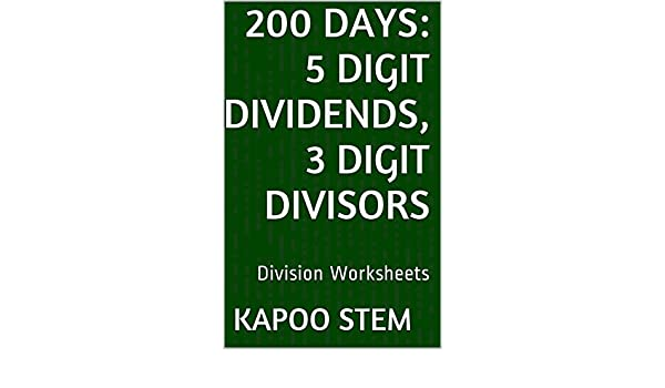 Amazon.com: 200 Division Worksheets with 5-Digit Dividends, 3 ...