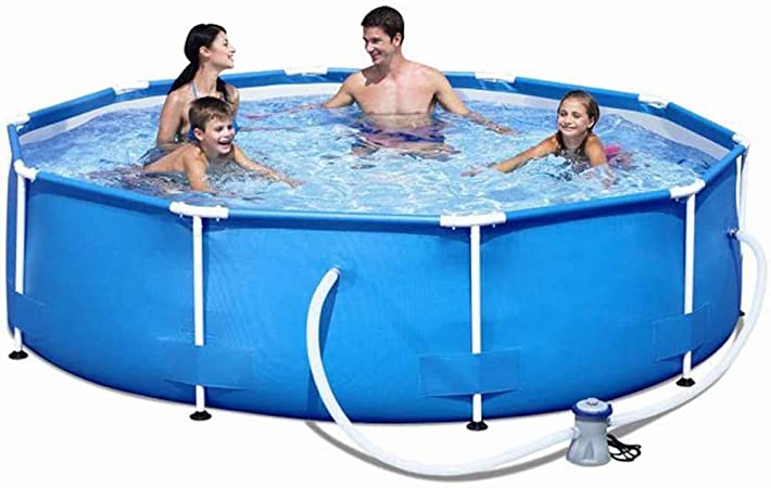 ZZQH Piscina Desmontable con depuradora, Piscina Tubular (Circular), Piscina Hinchable, 366 x 76cm / 145 x 30In Frame Pool Set: Amazon.es: Hogar