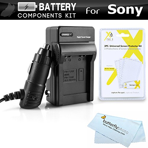 Battery Charger Kit For Sony Alpha a6000, a6500, a5100, a7, a7K a7R, A55, A33, DSLR SLT A55, SLT A33, SLT-a35, NEX-5T, a6300, a3000, a5000 DSLR, Sony QX1 Includes Ac/Dc Charger For Sony NP-FW50 + More