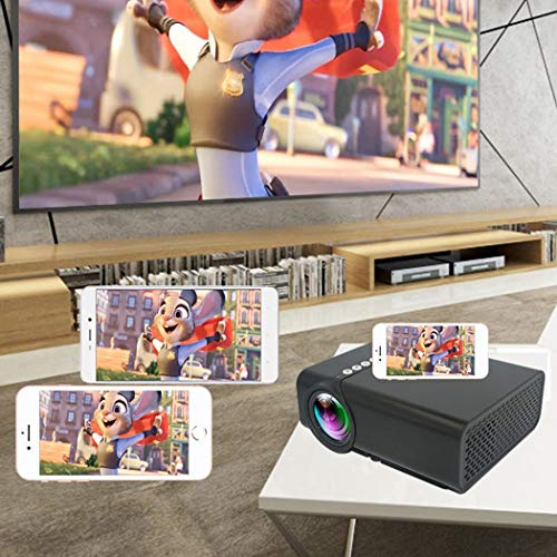 Oguine Smartphone Projector Mini HD Projector with Synchronize Smart Phone Screen, Video LED 1080P Cinema Projector for PC/TV/DVD/Movies/Games/Outdoor from Oguine