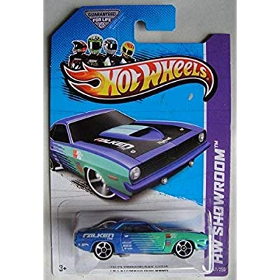 HOT WHEELS HW SHOWROOM, BLUE '70 PLYMOUTH AAR CUDA 247/250: Toys & Games