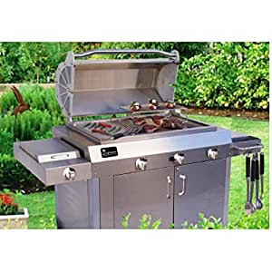 """Supreme 36"""" Freestanding #304 Stainless Steel Barbecue Grill"""