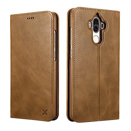 Huawei Mate 9 Case,XOOMZ Genuine Leather Wallet...