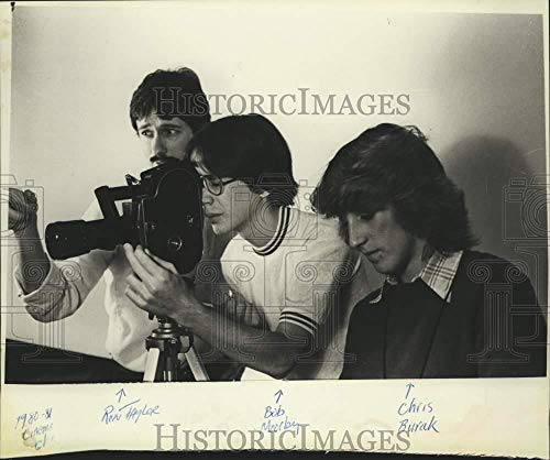 Vintage Photos 1982 Press Photo Shenendehowa Students Produce Cable Television Film in New ()