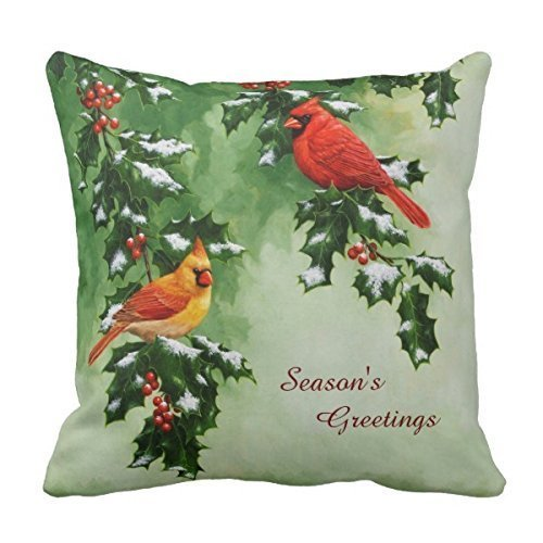 Male and Female Northern Cardinals Pillowcase