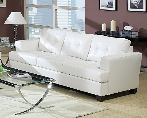 ACME Furniture AC-15095 Sofas, White - Button Tufted Wood Block Legs Bonded Leather - sofas-couches, living-room-furniture, living-room - 51%2BavDUNzFL -
