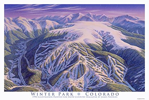 Wall Art Print entitled Winter Park by James Niehues | 48 x 32