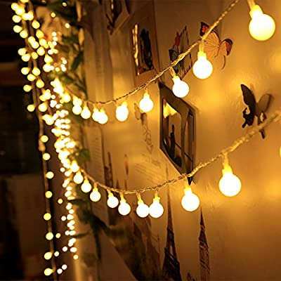 100 LED Indoor String Lights 37.7 Feet Warm White Globe for Patio Party Christmas Wedding Bedroom by Innoo Tech