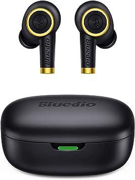 Auriculares Bluetooth, Bluedio P(Particle) Auriculares Inalámbricos Bluetooth 5.0 Mini Twins Estéreo In-Ear con Caja de Carga Portátil, Auriculares Manos Libres para iOS/Android/Deportivos/Trabajo: Amazon.es: Electrónica