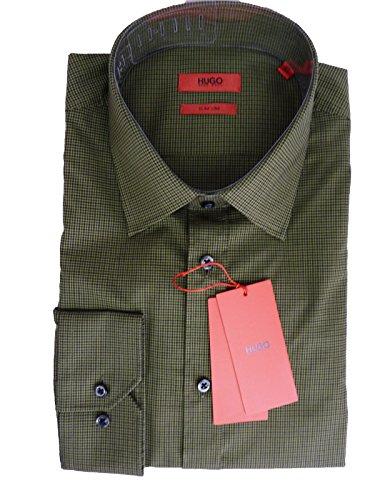 HUGO BOSS Herren Langarm Hemd Freizeithemd Businesshemd grün XL