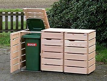 Binnen Markt 3er Mulltonnenbox Mulltonnenverkleidung 120 L Holz