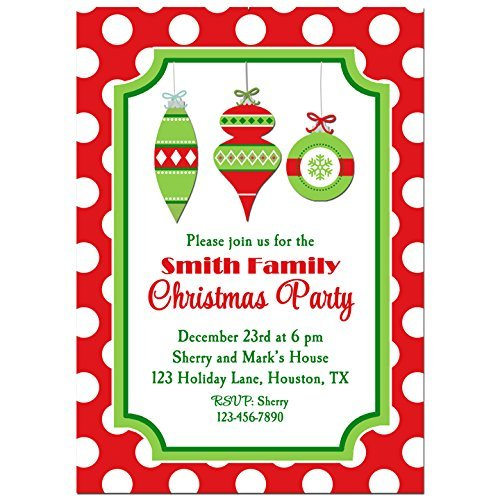 amazon com christmas ornament party invitations with any wording