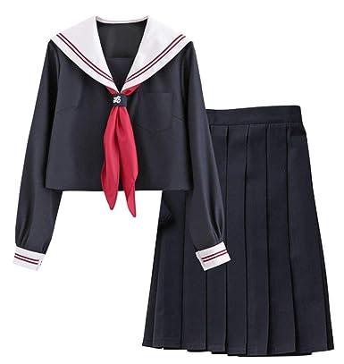 FENIKUSU - Disfraz de Uniforme de Colegiala Japonesa para Mujer ...