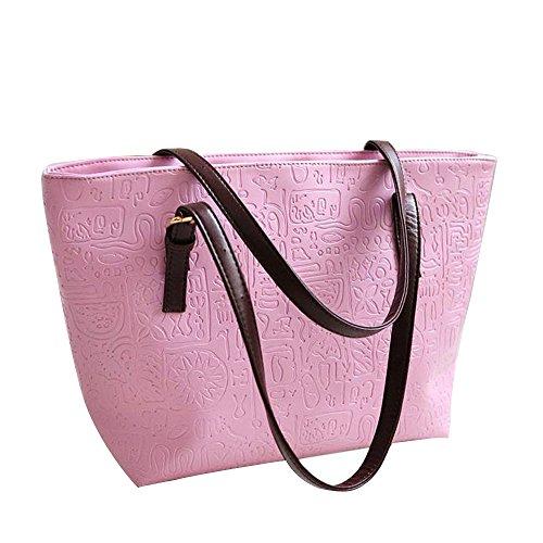 Women's Leather Totes Bag Shoulder Bag Work Travel ()