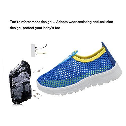 CIOR Kids Slip-on Breathable Sneakers For Running Beach Toddler / Little Kid,D110,Blue?32 4