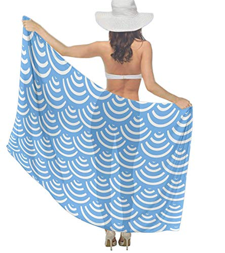 (Sarong Wraps Japanese Great Wave Mermaid Women Pareo Dress for Costume)