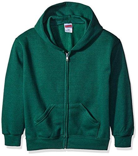 (Soffe Boys' Big' YTH Zip Hd 9oz FLCE 50c/50p, Dark Green, Small)