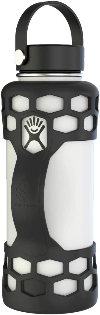REUZBL Bottle Bumper Silicone Sleeve Protector with Handle for Hydro Flask, Takeya, Simple Modern, or Similar Bottles