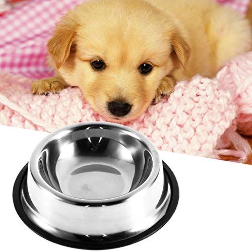 Antideslizante de Acero Inoxidable Sin Punta Sin Deslizamiento Cachorros de Perro Tazón de alimentación Comida para…
