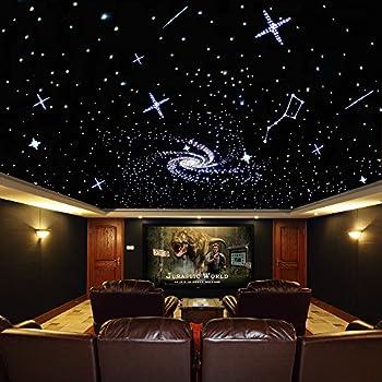 32w Coloful Twinkle Led Fiber Optic Star Ceiling Kit Light