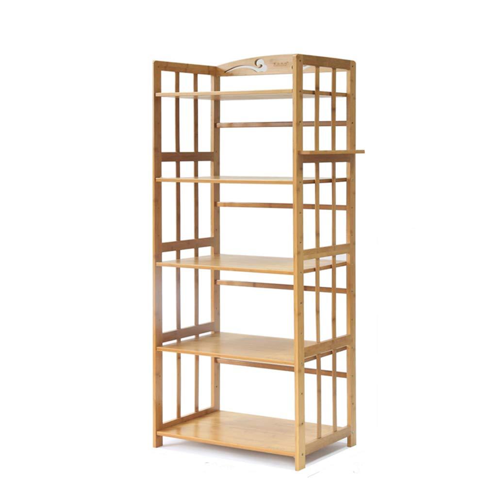 棚 - キッチンフロアスタンドバルコニー収納ラック寝室収納棚5階本棚ソリッドウッドバンブー (サイズ さいず : 60 cm 60 cm) B07JB79FFZ  60 cm 60 cm