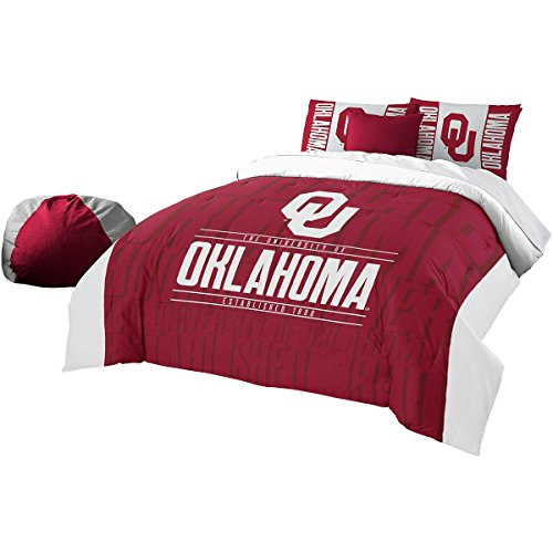 Officially Licensed NCAA Oklahoma Sooners Modern Take Full/Queen Comforter and 2 Sham (Oklahoma Sooners Comforter)
