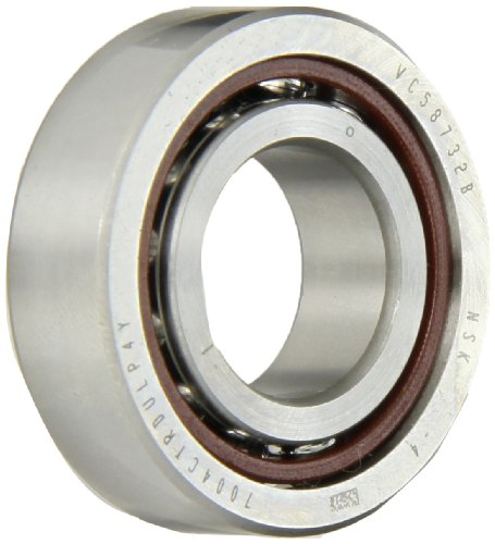 NSK 7004CTRDULP4Y Super Precision Angular Contact Bearing, 15° Contact Angle, Straight Bore, Phenolic Cage, Open Enclosure, Normal Clearance, Metric, 20mm Bore, 42mm OD, 0.472