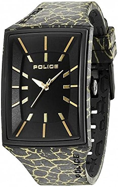 Police pl.13077mpb/02b - orologio da polso da uomo, cinturino in silicone colore nero