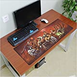 Hot 900x300mm gaming mouse pad locking edge mouse pad non-slip mousepad laptop mat for lol game players by jetkyshop