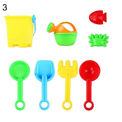 Gilroy Kids Sand Beach Toys Set Castle Bucket Spade Shovel Rake Water Tools Sandbox Toys for Toddlers Kids Children Baby: Toys & Games