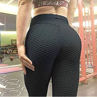 AIMILIA Butt Lifting Anti Cellulite Sexy Leggings for Women High Waisted Yoga Pants Workout Tummy Control Sport Tights: Clothing