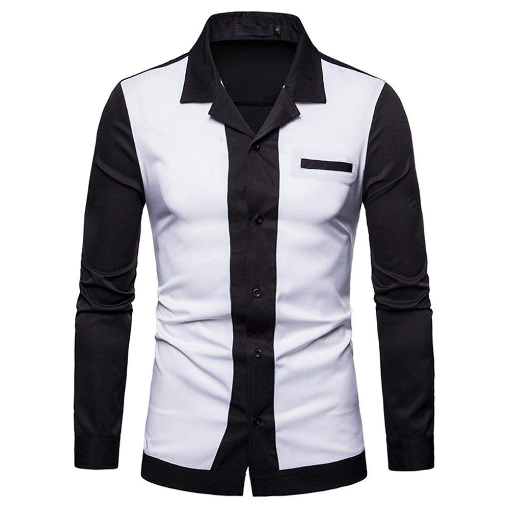 kaifongfu-mens clothes (White,L)
