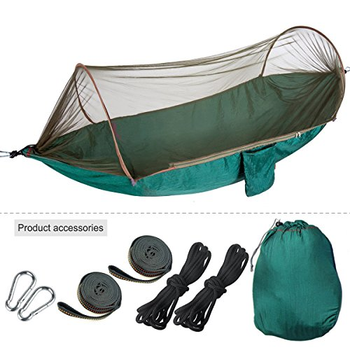 Hammock with Mosquito Net Tent 6.6-8.2 Feet for...