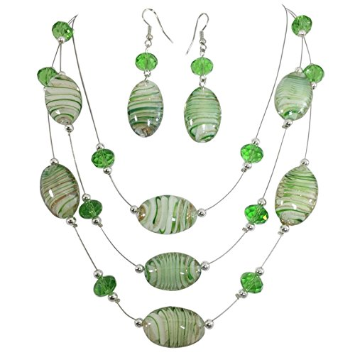 Green Beaded Dangle - 9