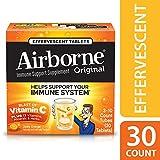 Airborne Zesty Orange Effervescent Tablets, 30 count - 1000mg of Vitamin C - Immune Support Supplement
