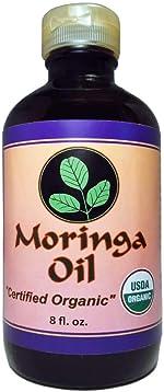 Moringa Oil Organic 8 oz 100% Pure, Cold Pressed, Food Grade,