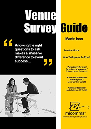 Venue Survey Guide: The right questions to ask when choosing your venue (Event Organisers