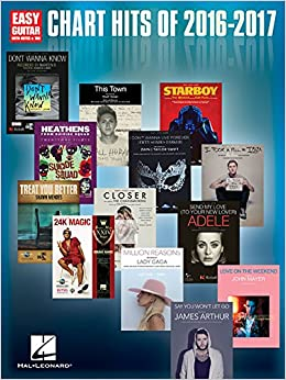 Book Chart Hits of 2016-2017: Easy Guitar with Notes & Tab
