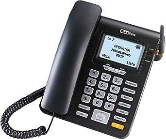 Maxcom MM 28 D HS - Teléfono Fijo GSM de Escritorio con Tarjeta Sim Función SMS, Negro: Maxcom: Amazon.es: Electrónica